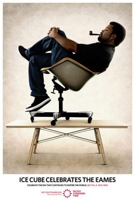 Ice Cube Celebrates the Eames, poster, 2011, (artwork © J. Paul Getty Trust)