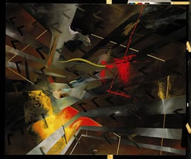Gerhard Richter, Konstruktion (Construction, Werkübersicht 389), 1976, oil on canvas, 8 ft. 2½ in. x 9 ft. 10⅛ in. (250 x 300 cm). Staatliches Museum für Kunst und Design, Nuremberg, Germany (artwork © 2012 Gerhard Richter; photograph provided by Atelier Gerhard Richter, Cologne, Germany)
