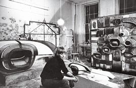 Ugo Mulas, Studio of Lee Bontecou, 1964, photographs (photographs © Ugo Mulas Heirs; all rights reserved)