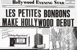 """Les Petites Bonbons Make Hollywood Debut,"" Egozine, 1975 (artwork © Robert Lambert)""Les Petites Bonbons Make Hollywood Debut,"" Egozine, 1975 (artwork © Robert Lambert)"
