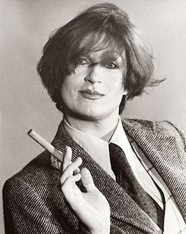 Studio portrait of Lynn Harris in male attire, 1977, Lynn Edward Harris Papers, ONE National Gay and Lesbian Archives at the USC Libraries (photograph provided by ONE Archives)