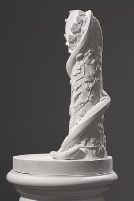 Lily Cox-Richard, The Stand: Eve Disconsolate, 2013, plaster, 69 x 26 x 26 in. (175.3 x 66 x 66 cm) (artwork © Lily Cox-Richard; photograph by  Sharad Patel)
