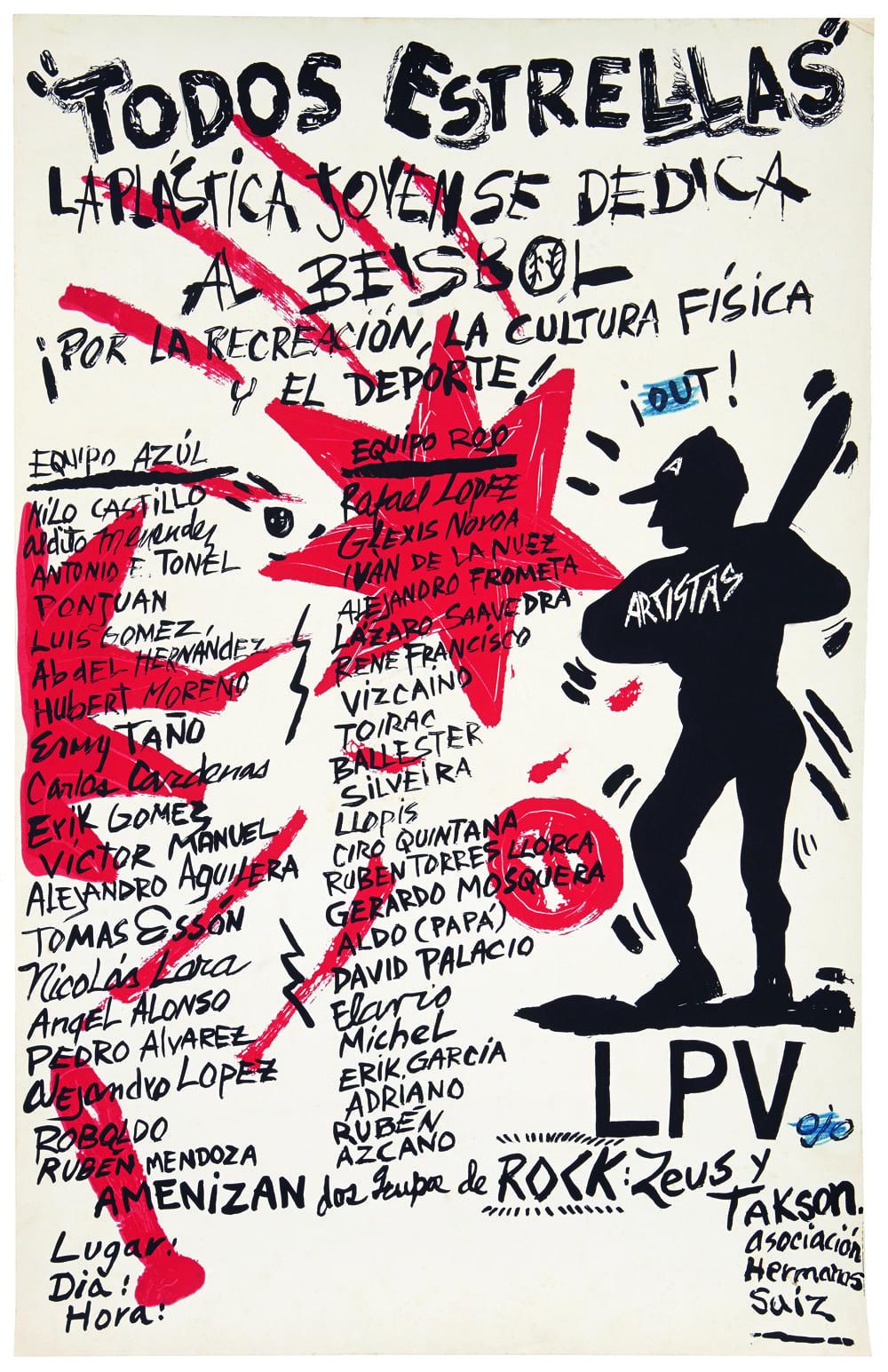 Pedro Vizcano Cartel Todos Estrellas Poster All Stars 1989