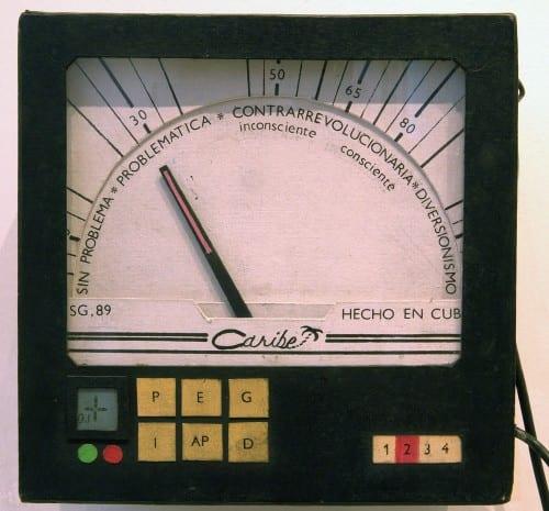 Lázaro Saavedra, Detector de ideologías [Ideology Detector], 1989 (artwork © Lázaro Saavedra)