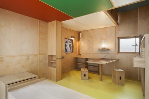 Le Corbusier, Cabanon, Roquebrune-Cap-Martin, 1951–52, re-creation of the interior, 2006, manufactured by Cassina SpA, Milan (photograph by Jonathan Muzikar © 2013 Museum of Modern Art)