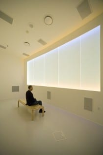 John Luther Adams, The Place Where You Go to Listen, 2008, sound and light environment, installation view, Museum of the North, University of Alaska Fairbanks, 2008–present (artwork © John Luther Adams; photograph by Barry McWayne provided by Museum of the North)