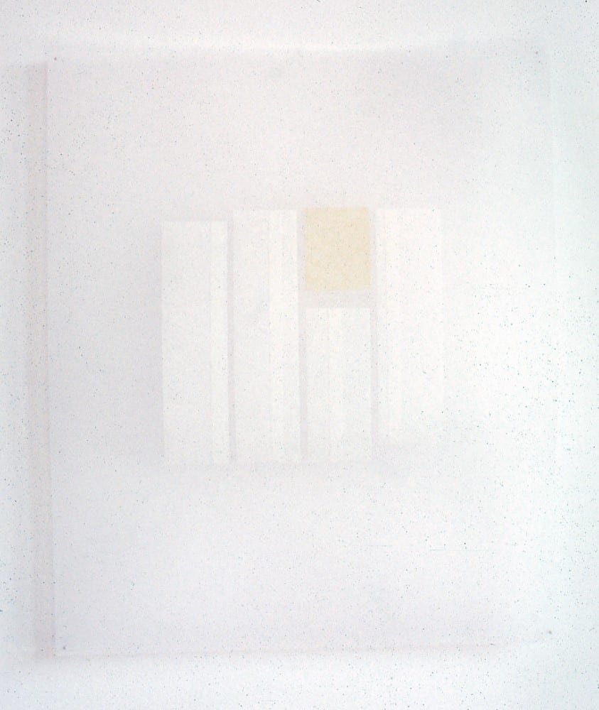 Karen L. Schiff, Agnes Martin, The Boston Globe, 17 December 2004, III, 2005, tape on vellum, 17 x 14 inches (artwork © Karen L. Schiff)