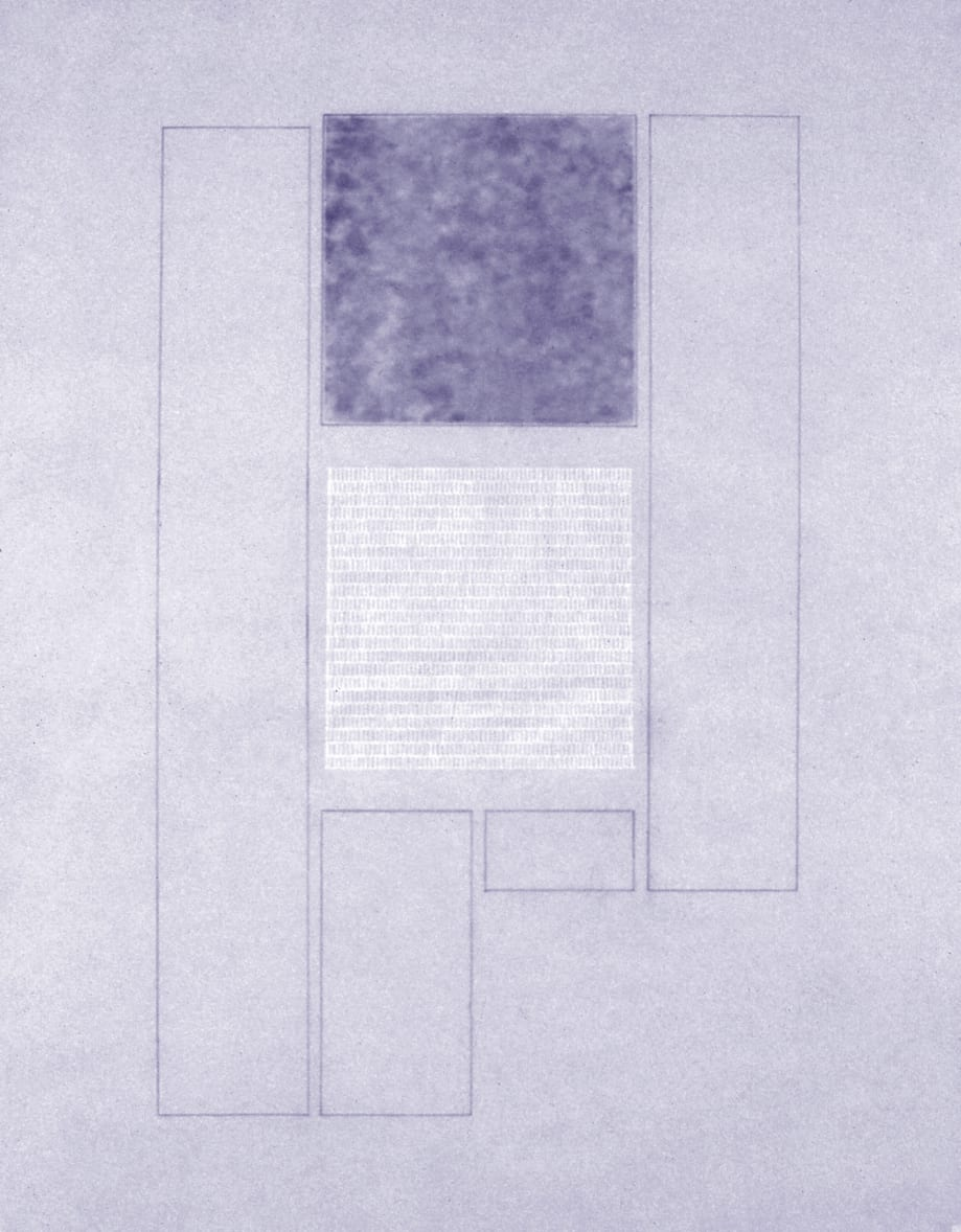 Karen L. Schiff, Agnes Martin, The New York Times, 17 December 2004, I, 2005, graphite, charcoal, and stylus on vellum, 17 x 14 inches (artwork © Karen L. Schiff)