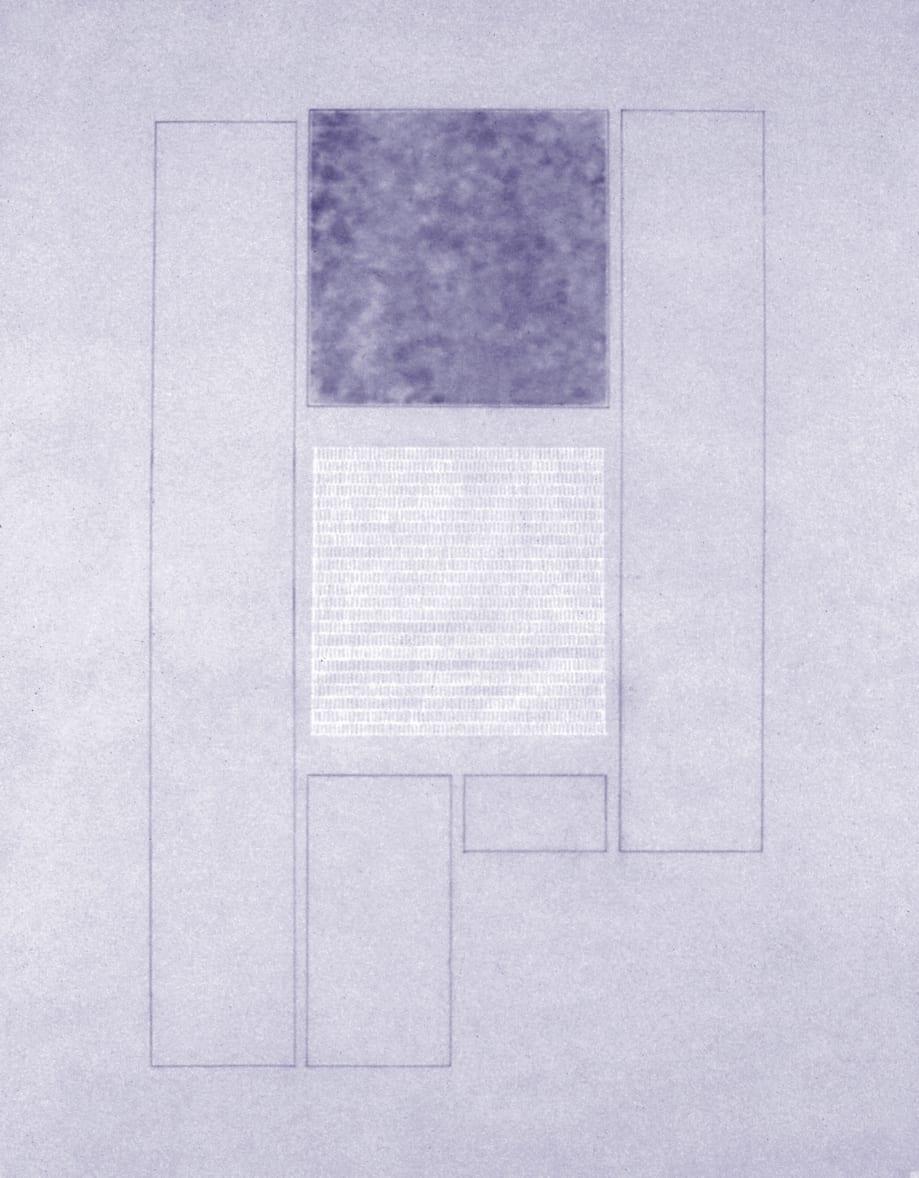 Karen L. Schiff, Agnes Martin, The New York Times, 17 December 2004, I, 2005, graphite, charcoal, and stylus on vellum, 17 x 14 inches (artwork © Karen L. Schiff)