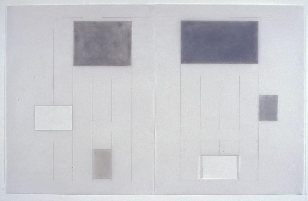Karen L. Schiff, Agnes Martin, Suddeutsche Zeitung, 21 December 2004, opening, I, 2005, graphite, charcoal, pastel, and zip-a-tone on vellum, 24 x 38 inches (artwork © Karen L. Schiff)