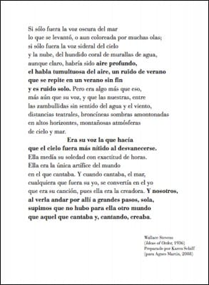 Karen L. Schiff, catalogue entry for Agnes Martin, Nueva York: El Papel de las Últimas Vanguardias . Segovia, Spain: Museo de Arte Contemporáneo Esteban Vicente (in cooperation with the Fifth Floor Foundation), 2009