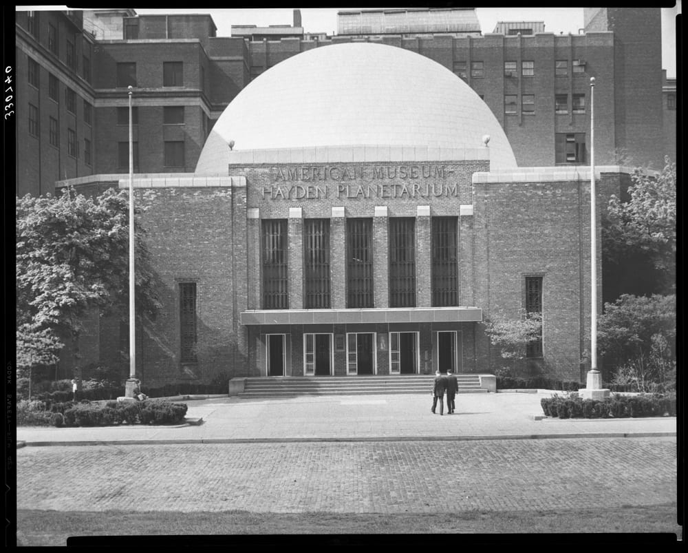 Hayden Planetarium, American Museum of Natural History. Image# 330740, AMNH Library.