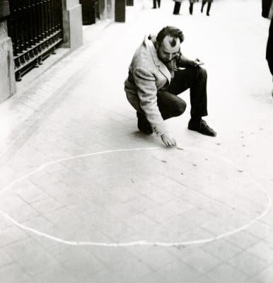 Alberto Greco, Vivo-Dito Vacío (Empty Vivo-Dito), 1963, Madrid (artwork and photograph ©  The Greco Family)