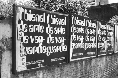 Poster for Tucumán Arde(Tucumán Is Burning), Rosario version, 1968, fictional biennial posters displayed in the street, Rosario, Argentina, 1968 (photograph provided by Archivo Graciela Carnevale)