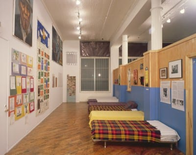 Martha Rosler, Homeless: The Street and Other Venues, from If You Lived  Here . . ., 1989, installation view with beds, Dia Art Foundation (artwork © Martha Rosler; photograph by Oren Slor, provided by Dia Art Foundation)