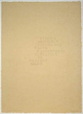 Rudy Lemcke, Foscarnet, 1989, graphite on Fabriano Roma paper, 26.5 x 19.5 in. (67.31 x 49.53 cm.) (artwork © Rudy Lemcke)
