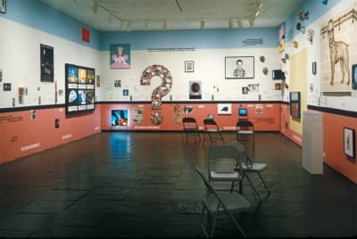 Group Material, AIDS Timeline, installation view, Whitney Biennial, 1990 (photograph and installation © Doug Ashford)