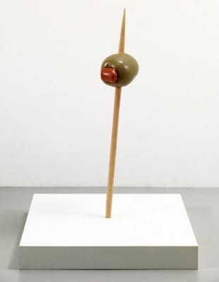 Martha Friedman, Pucker, 2010, rubber and wood, 3 ft. x 8 in. x 7 in. (91.44 x 20.32 x 17.78 cm) (artwork © Martha Friedman; photograph by James Ewing, provided by the artist and Wallspace, New York)