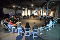 Final roundtable session, Hand-in-Glove convening, 2015, The Soap Factory, Minneapolis, September 20, 2015 (photograph by Sean Smuda © Works Progress Studio)
