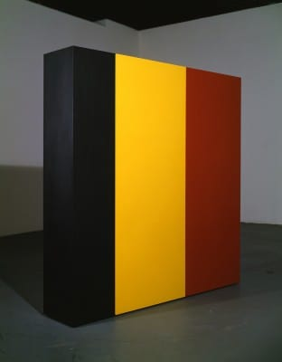 Karl Haendel, Knight's Heritage, 1963, from the series For/After Anne Truitt, 2001, acrylic on wood, 60-1/2 x 60-1/2 x 12 in. (153.7 x 153.7 x 30.5 cm) (artwork © Karl Haendel)