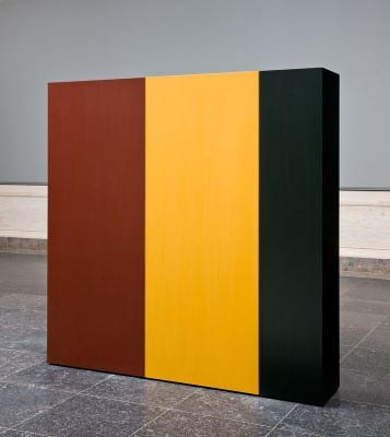 Anne Truitt, Knight's Heritage, 1963, acrylic on wood, 60-3/8 x 60-3/8 x 12 in. (153.4 x 153.4 x 30.5 cm.) (artwork © Estate of Anne Truitt; photograph © National Gallery of Art, Washington, DC)