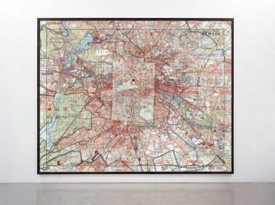 Gert Jan Kocken, Depictions of Berlin, 1933–1945, 2010, C-print, 118⅛ x 169⅜ in. (300 x 430 cm), installation view, Rijksakademie Open Studios, Netherlands, 2011 (artwork © Gert Jan Kocken; photograph provided by the artist)