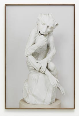 Gert Jan Kocken, Johann Gottlieb Kirchner, Meissen Monkey, 1732–33, from the series Judenporzellan, 2009, C-print, 49¼ x 33 in. (125 x 84 cm) (artwork © Gert Jan Kocken; photograph provided by the artist) Kocken's series Judenporzellan was exhibited in Monumentalism at the Stedelijk Museum Amsterdam in 2010. The original Kirchner  porcelain, in the Museum of Arts and Crafts, Hamburg, is often incorrectly identified as the former property of Moses Mendelssohn.