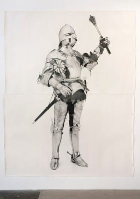 Karl Haendel, Knight #8, 2011, pencil on paper, 103 x 79 in. (261.6 x 200.6 cm) (artwork © Karl Haendel)