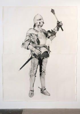 Karl Haendel, Knight #8, 2011, pencil on paper, 103 x 79 in. (261.6 x 200.6 cm) (artwork © Karl Haendel)