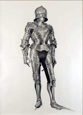 Karl Haendel, Knight #2, 2010, pencil on paper, 103 x 74 in. (261.6 x 187.9 cm) (artwork © Karl Haendel)