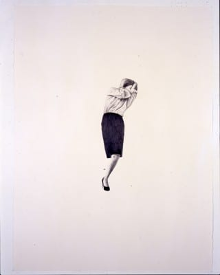 Karl Haendel, Little Legless Longo #4, 2004  pencil on paper, 30 x 22 in. (76.2 x 55.8 cm) (artwork © Karl Haendel)