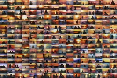 Penelope Umbrico, Sunset Portraits, 2011, images from Flickr (artwork © Penelope Umbrico)