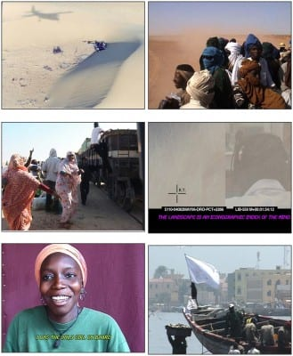 Ursula Biemann, Sahara Chronicle, 2006–9, stills from 12 videos, sound, 76 min. (artwork © Ursula Biemann; photographs provided by the artist)