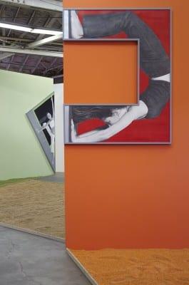 Karl Haendel, Unwinding Unboxing, Unbending Uncocking, installation view, Night Gallery, Los Angeles, 2015 (artwork © Karl Haendel)