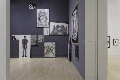 Graphite, installation view  of Karl Haendel's installation of drawings, Indianapolis Museum of Art, Indianapolis, Indiana, December 7, 2012–June 2, 2013(artwork © Karl Haendel; photograph provided by Indianapolis Museum of Art)
