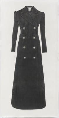 Karl Haendel, Long Black Coat, pencil on paper, 92 x 45 in. (233.6 x 114.3 cm), 2012 (artwork © Karl Haendel)
