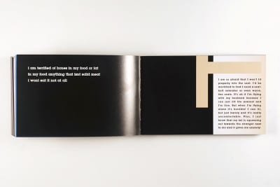 Karl Haendel, page spreads from FEAR (Los Angeles: Double Ampersand Press, 2013) (artwork © Karl Haendel)