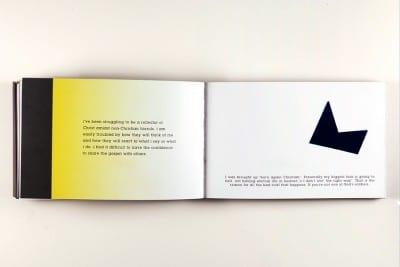 Karl Haendel, page spreads from FEAR (Los Angeles: Double Ampersand Press, 2013) (artwork © Karl Haendel)