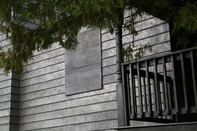 Diana Shpungin, detail of Drawing of a House (Triptych),  2015, graphite pencil on house at 333 Rumsey Street in Grand Rapids, Michigan, with multi-channel audio and hand-drawn video animation, dimensions variable (artwork © Diana Shpungin)