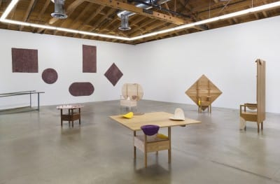 Shana Lutker, Paul, Paul, Paul, and Paul, 2015, installation view, Susanne Vielmetter Los Angeles Projects, July 10–August 22, 2015 (artwork © Shana Lutker; photograph by Robert Wedermeyer)