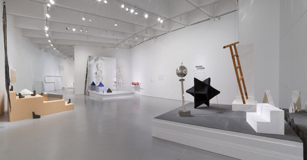 "Shana Lutker, Shana Lutker: Le ""NEW"" Monocle, Chapters 1–3, installation view, Hirshhorn Museum and Sculpture Garden,   Washington DC, October 29, 2015–February 15, 2016 (artwork © Shana Lutker; photograph by Cathy Carver)"