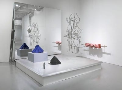 Shana Lutker, Chapter 2: Protestation!, 2014, installation view, Hirshhorn Museum and Sculpture Garden, Washington DC, October 29, 2015–February 15, 2016 (artwork © Shana Lutker; photograph by Cathy Carver)