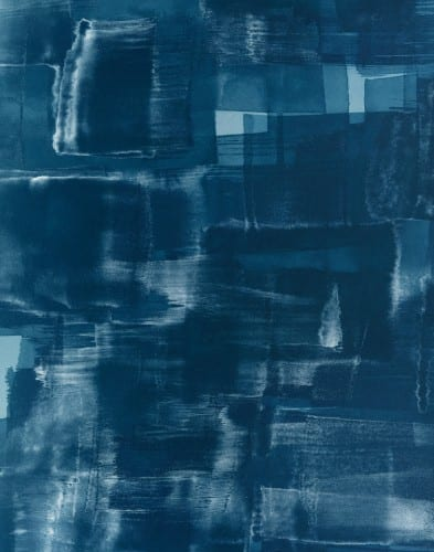 Marco Breuer, Untitled (E-33), 2005, cyanotype on Fabriano paper, unique, 15-11/16 x 12-3/8 in (39.8 x 31.4 cm.)  (artwork © Marco Breuer; provided by the artist and Yossi Milo Gallery)