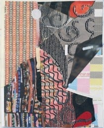 Roberto Visani, Travel Fox, 2015, mixed-media collage, 20 x 16 in. (50.8 x 40.6 cm) (artwork © Roberto Visani)