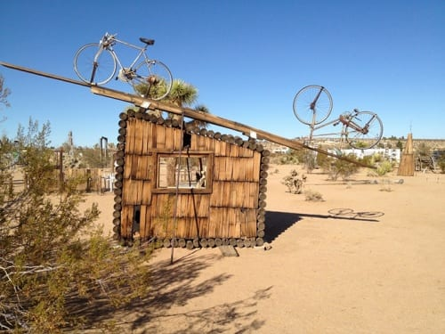 Noah Purifoy,  No Contest, 1994 (artwork © Noah Purifoy Foundation), which was featured on the cover of  Fall 2016 issue of VoCA Journal