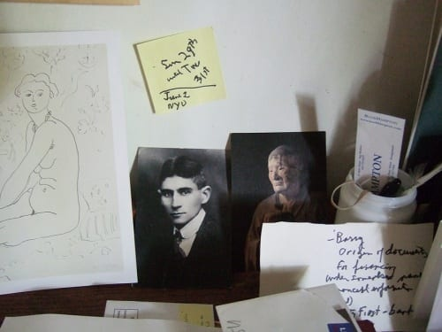 Dore Ashton's desk at her home in Springs, Long Island, New York, summer 2011 (photograph © Madeline Djerejian)