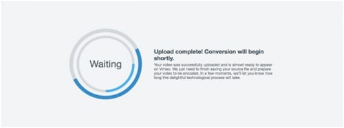 File conversion on Vimeo