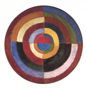 <strong>Robert Delaunay, <em>The First Disk</em>, 1913,</strong> oil on canvas, diam. 52¾ in. (134 cm). Private collection (artwork in the public domain; photograph provided by the author)