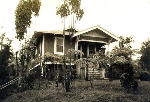 Honohina Upper Camp House #642, built 1924  (photograph provided by the University of Hawaiʻi-Mānoa Hamilton Library, Hawaiian Collection, Hawaiian Sugar Planters' Association Plantation Archives; special thanks to Susan Forbes)