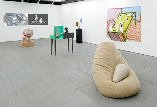 Installation view of A Round About, 2016 at Present Company, Brooklyn, New York